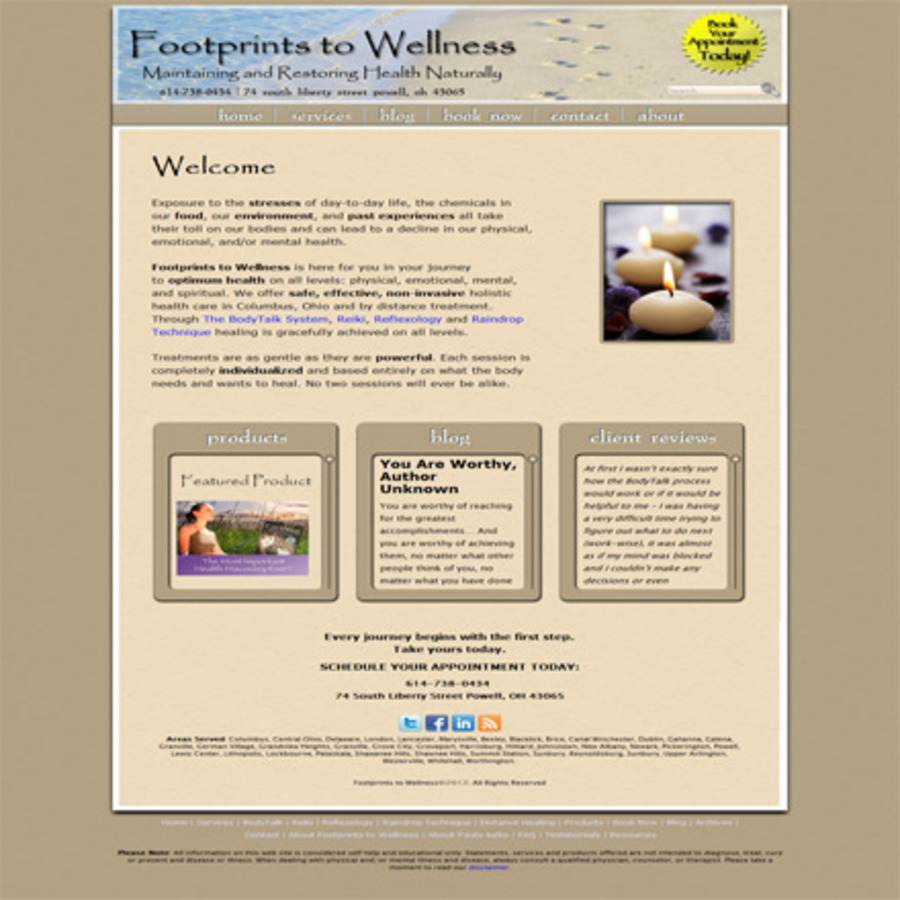 A great web design by Jason Witt, Columbus, OH: