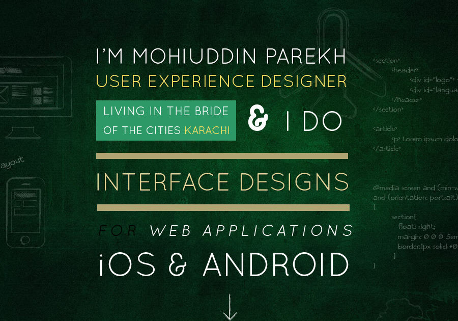 A great web design by Mohiuddin Parekh, Karachi, Pakistan: