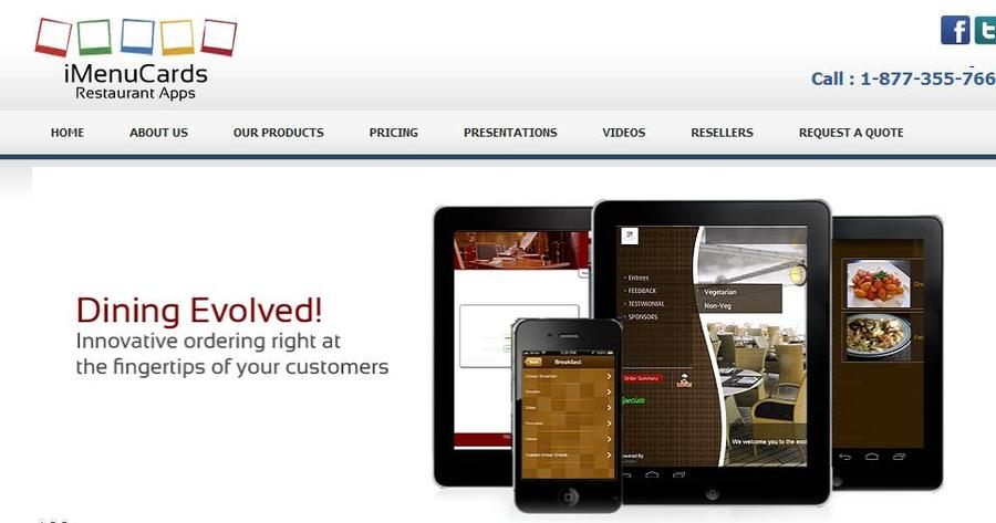 A great web design by iMenucards, Toronto, Canada: Mobile App , Web Application , Restaurants & Bars, iOS (Objective-C)