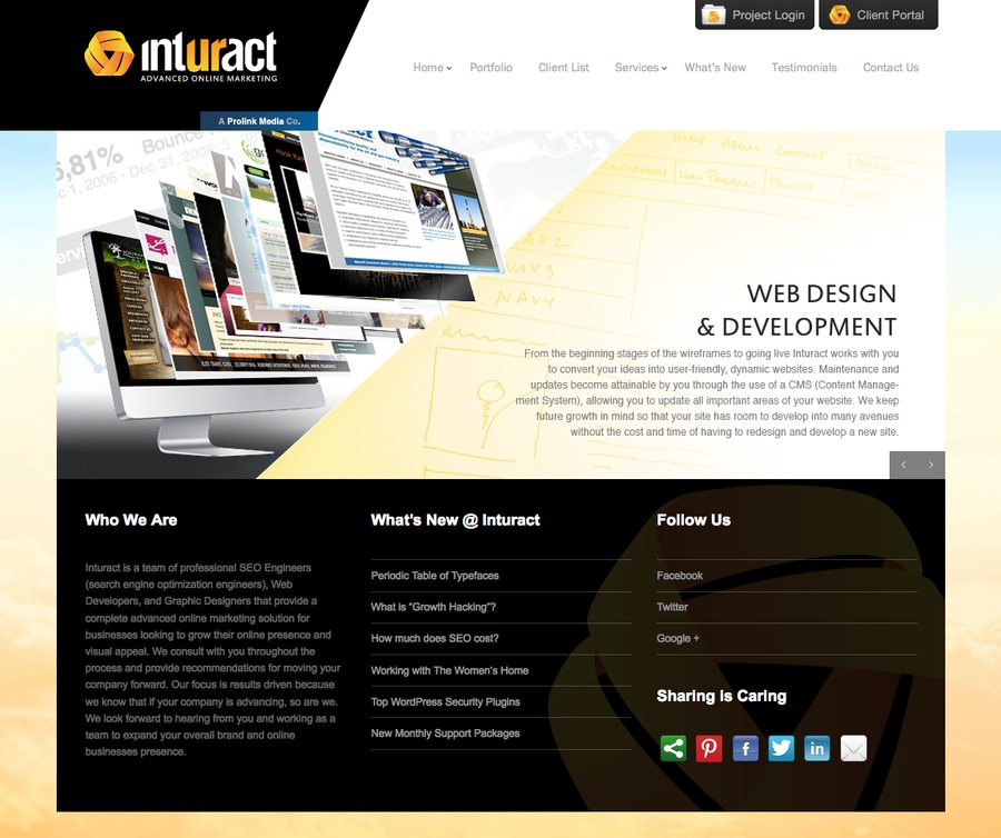 A great web design by Inturact, Dallas, TX: