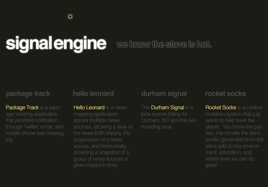 A great web design by Signal Engine, Durham, NC: