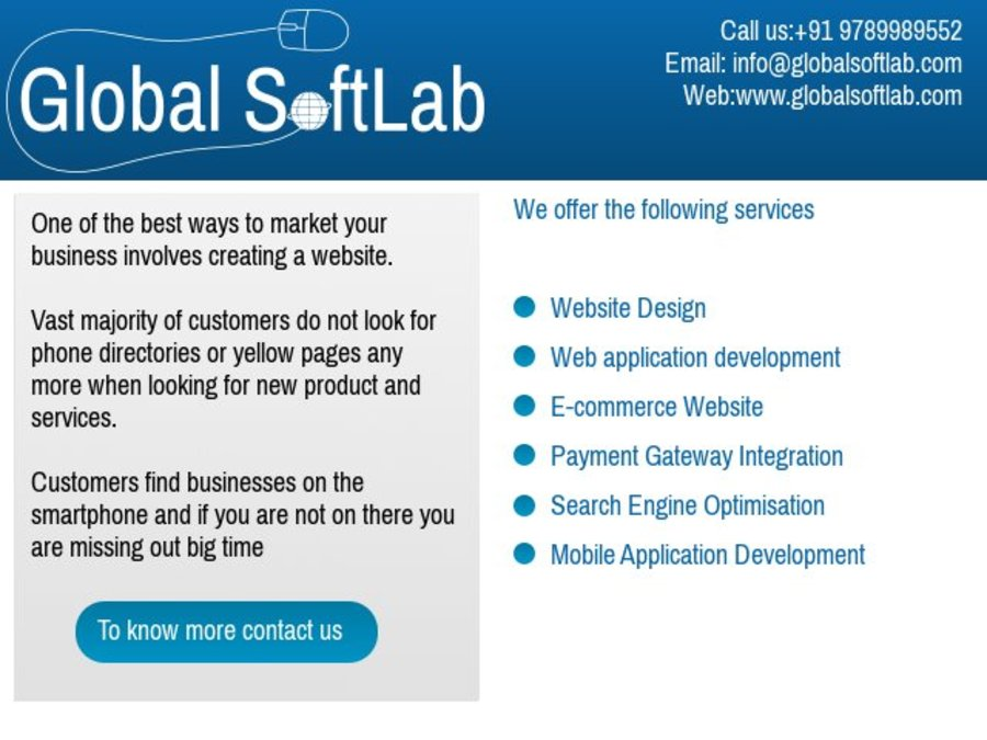 A great web design by Global SoftLab, Chennai, India: