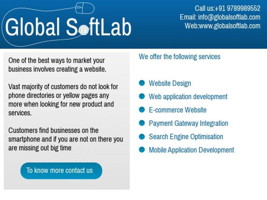 A great web design by Global SoftLab, Chennai, India: