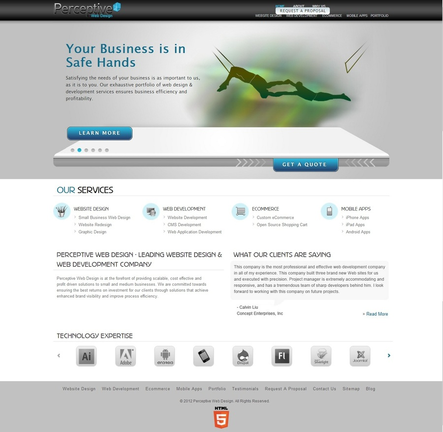 A great web design by PerceptiveWebDesign, Los Angeles, CA: