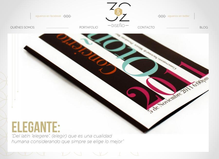 A great web design by Tres y tres - diseño, Mexico City, Mexico: