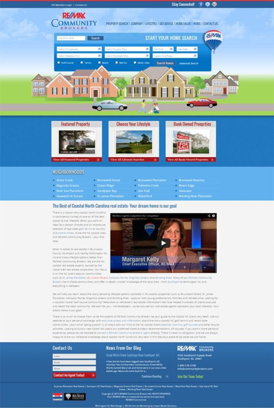 A great web design by Impact Media Solutions, Wilmington, NC: