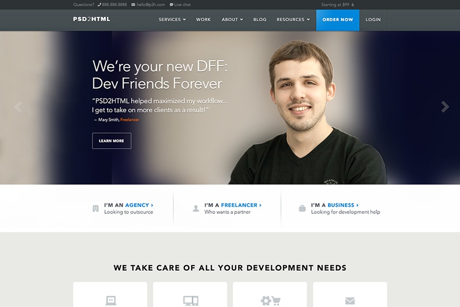 A great web design by Brian Hoff Design, Inc., New York, NY: