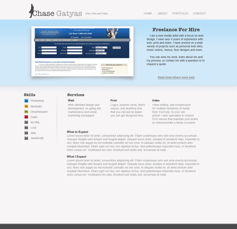 A great web design by ChasesWork, Pensacola, FL: Website, Portfolio , Internet , Static HTML