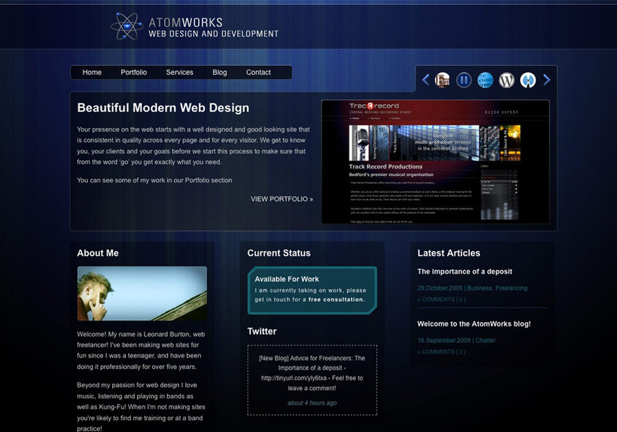 A great web design by AtomWorks.co.uk, Bedford, United Kingdom: