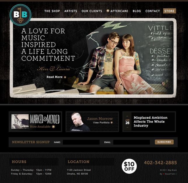A great web design by GoodTwin Design, Omaha, NE:
