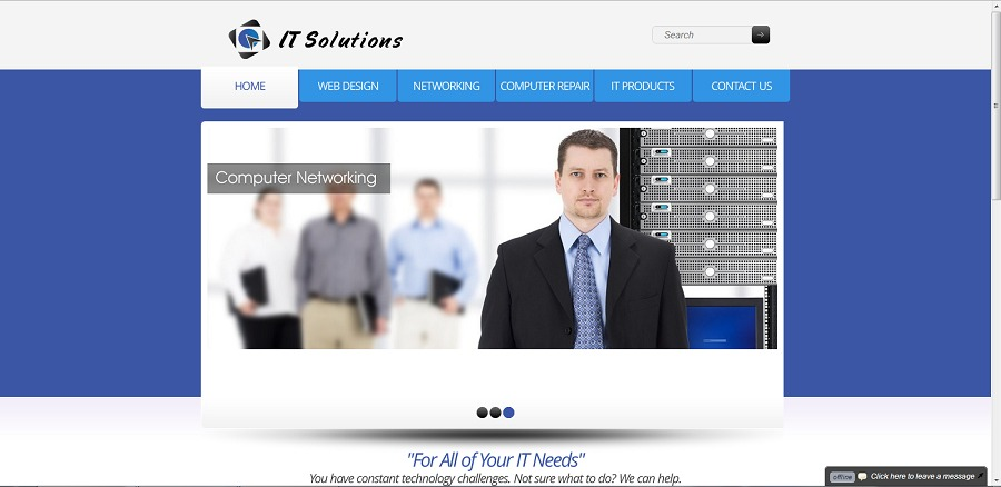 A great web design by IT Solutions, Jackson, MS: