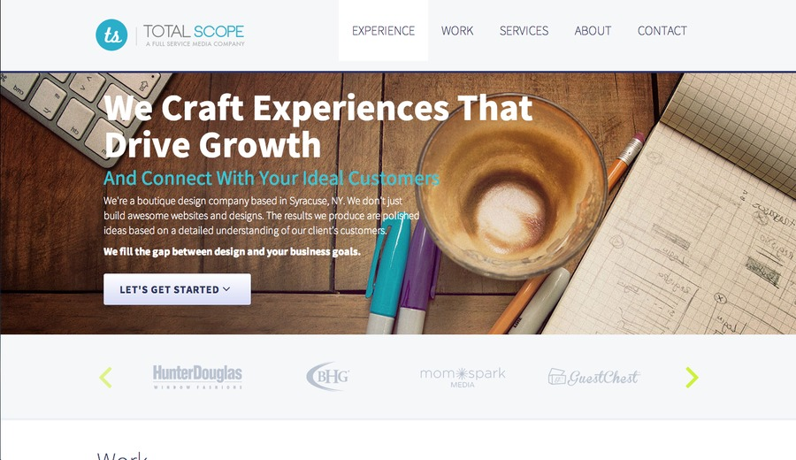 A great web design by Total Scope Media, Syracuse, NY: Website, Technology