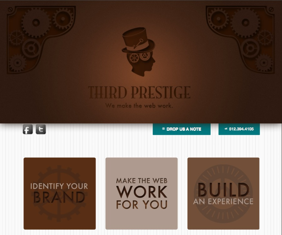 A great web design by Third Prestige, LLC, Austin, TX: