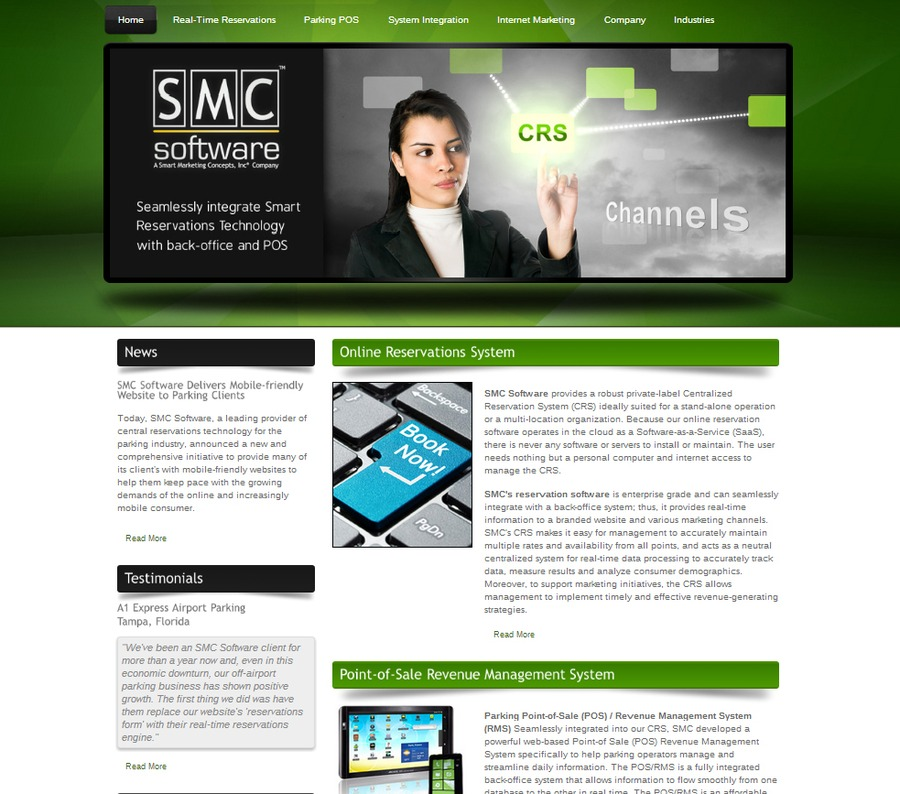 A great web design by eMarketing247, Tampa, FL: