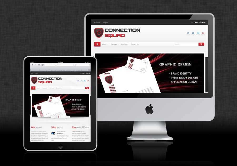 A great web design by Connection Squad, Chicago, IL: