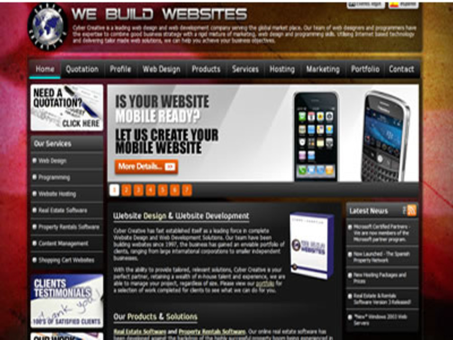 A great web design by Cyber Creative Web Design Marbella and London, London, United Kingdom: