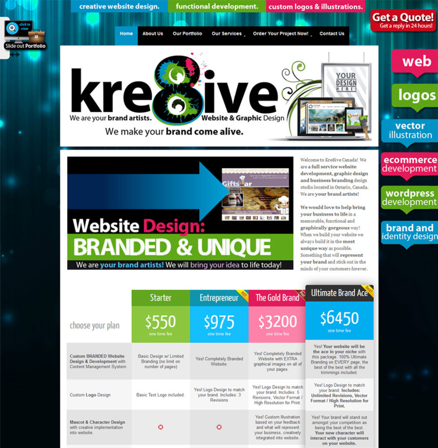 A great web design by Kre8iveCanada, Toronto, Canada: