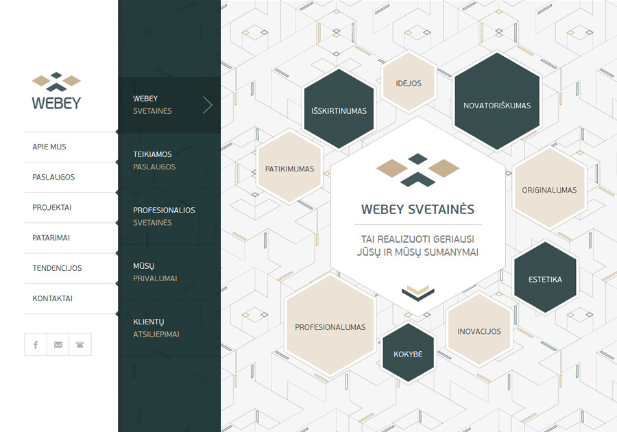 A great web design by Webey, Vilnius, Lithuania: