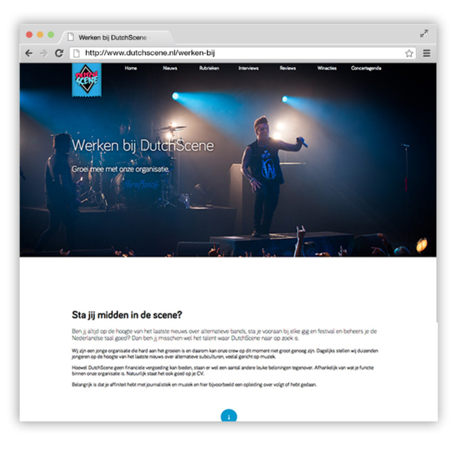 A great web design by Scenelebrity, Amsterdam, Netherlands: Website, Blog , Publishing , Wordpress