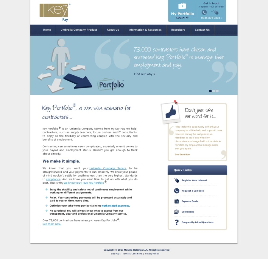 A great web design by My Key Pay, Glasgow, United Kingdom: