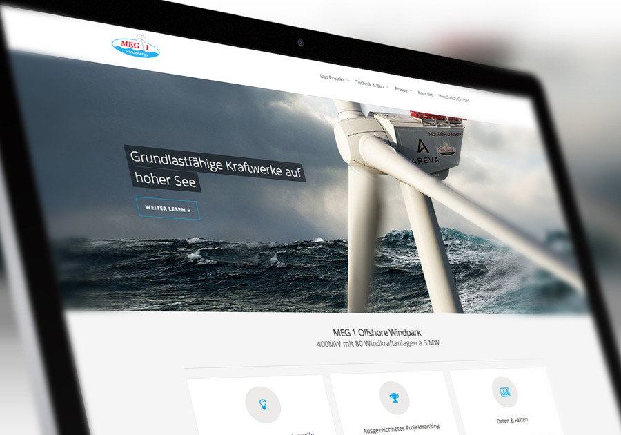 A great web design by dotcom Group, Stuttgart, Germany: