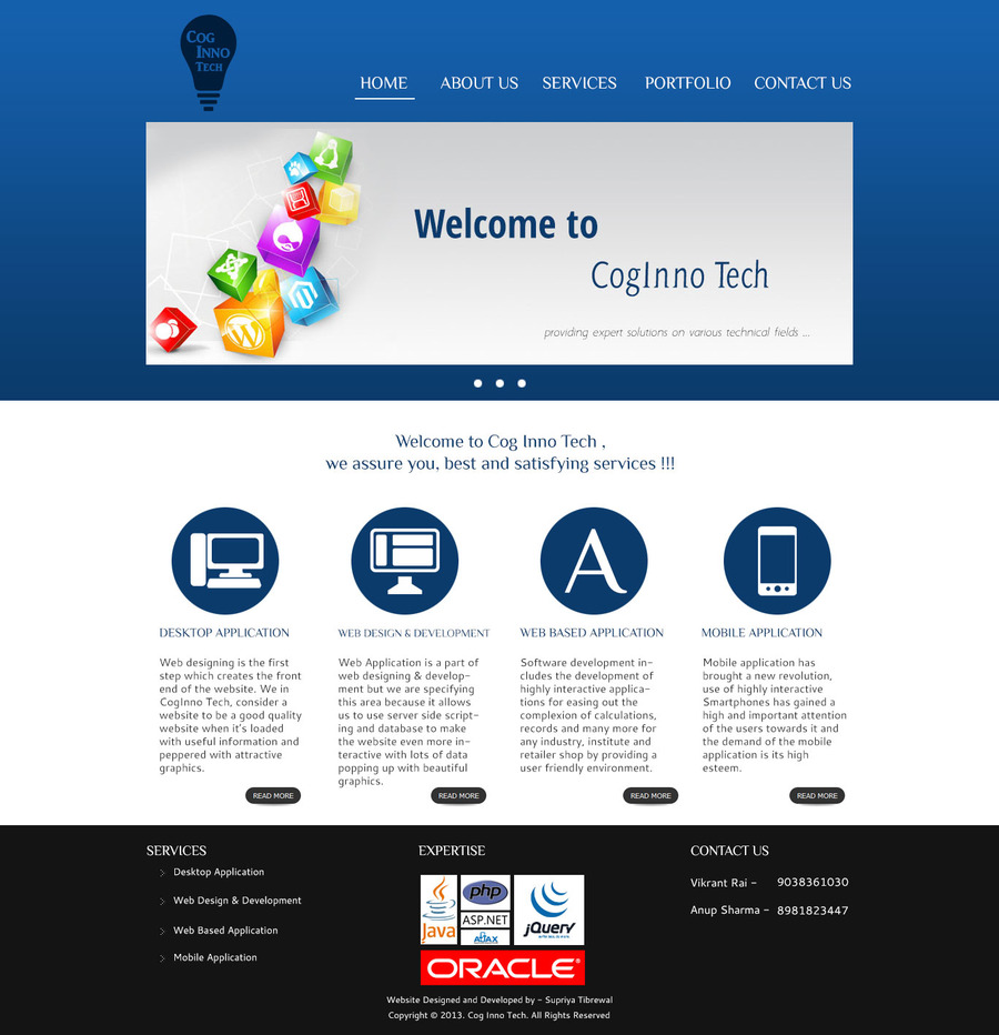 A great web design by CogInno Tech, Kolkata, India: