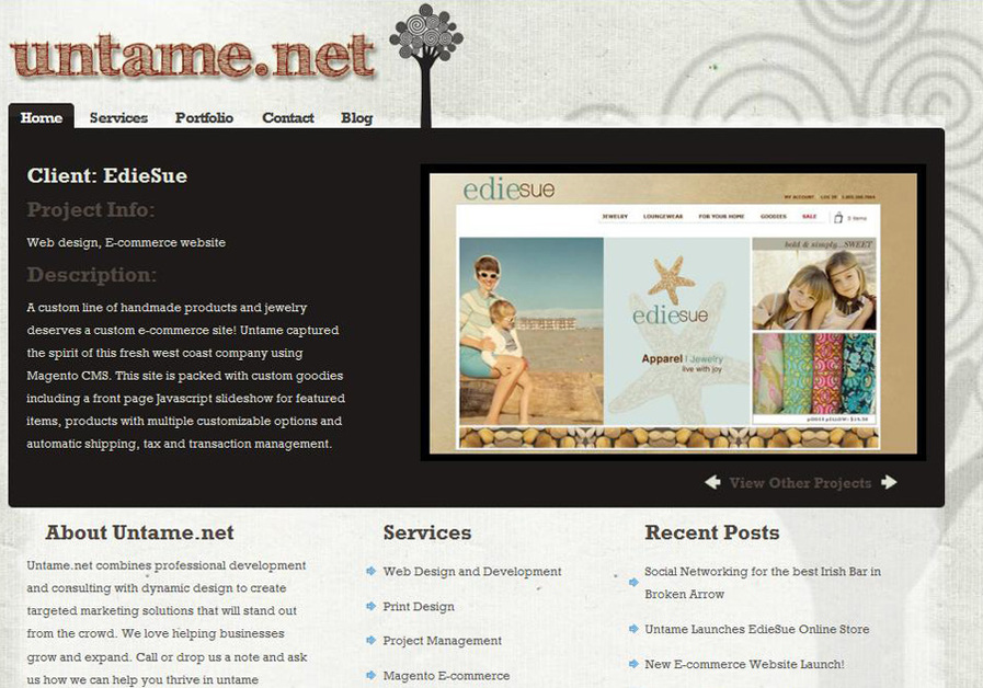A great web design by Untame.net, Tulsa, OK: