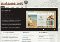 A great web design by Untame.net: