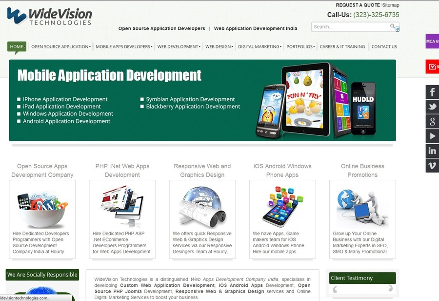 A great web design by WideVision Technologies Ltd, Los Angeles, CA: Website, E-Commerce , Technology , Joomla