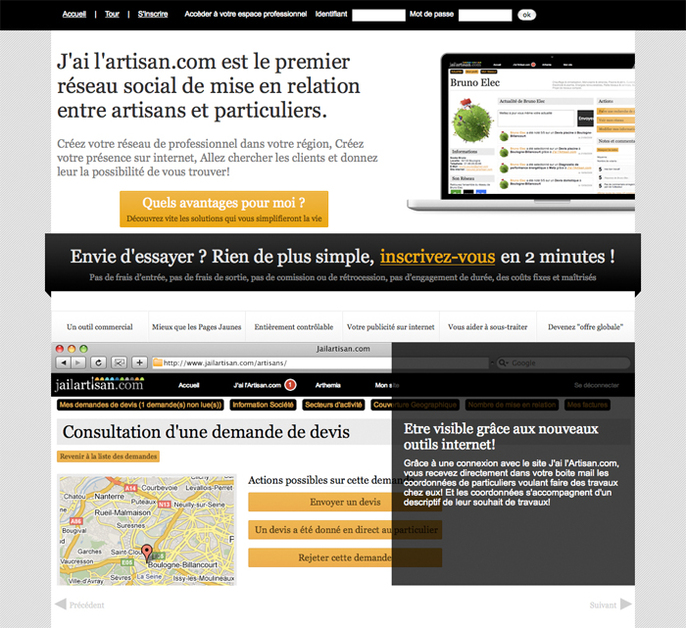 A great web design by WelcomeToTheSky, Paris, France: