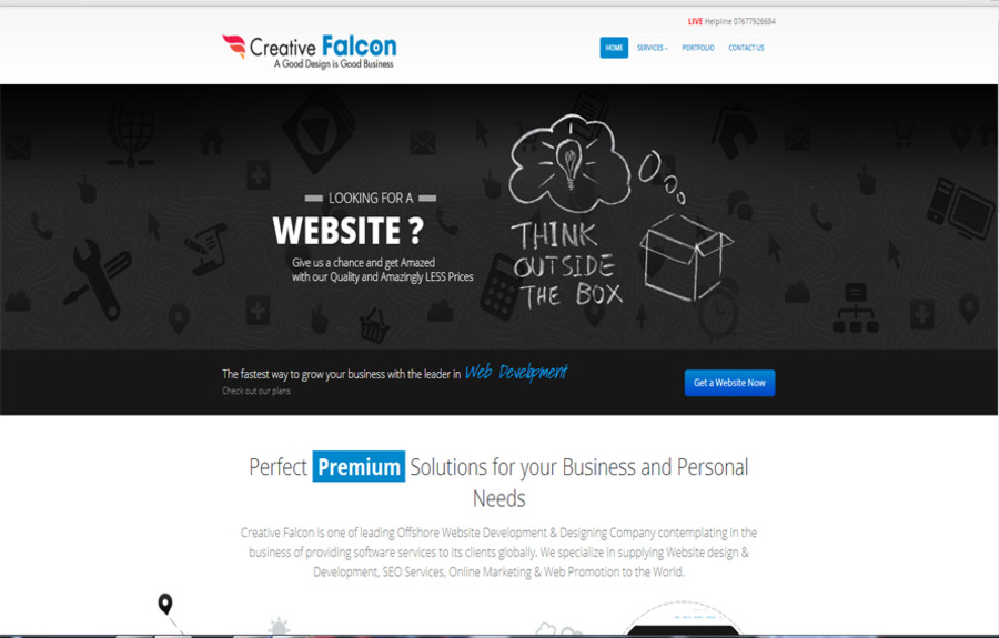 A great web design by Creative Falcon, New Delhi, India: