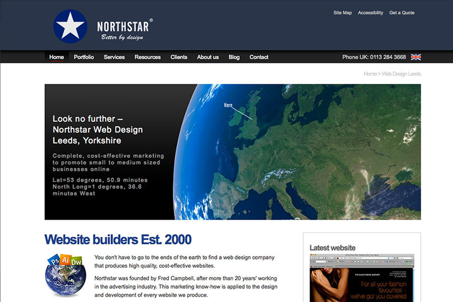 A great web design by Northstar Web Design, Leeds, United Kingdom: