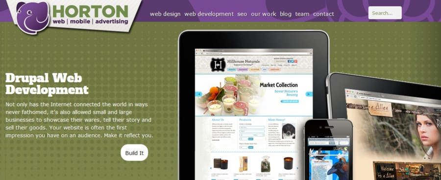 A great web design by Horton Group, Nashville, TN: