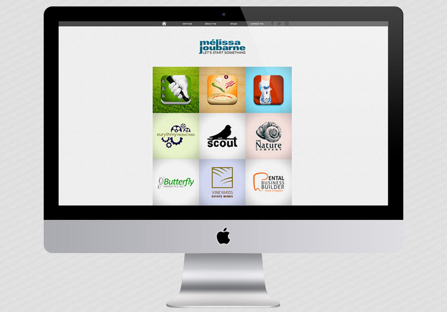 A great web design by Melissa Joubarne, Ottawa, Canada: