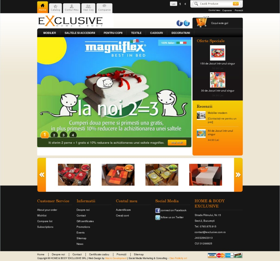 A great web design by Ciao Publicity, Trowbridge, Romania: