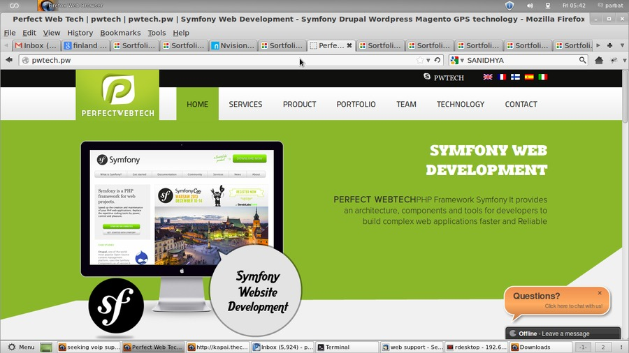 A great web design by pwtech.pw, Rajkot, India: