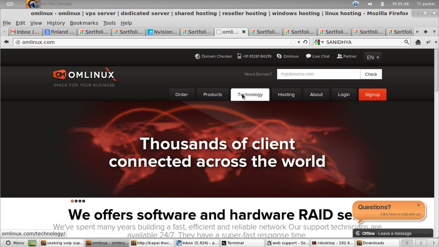 A great web design by omlinux.com cloud hosting raid hosting, New York, NY: