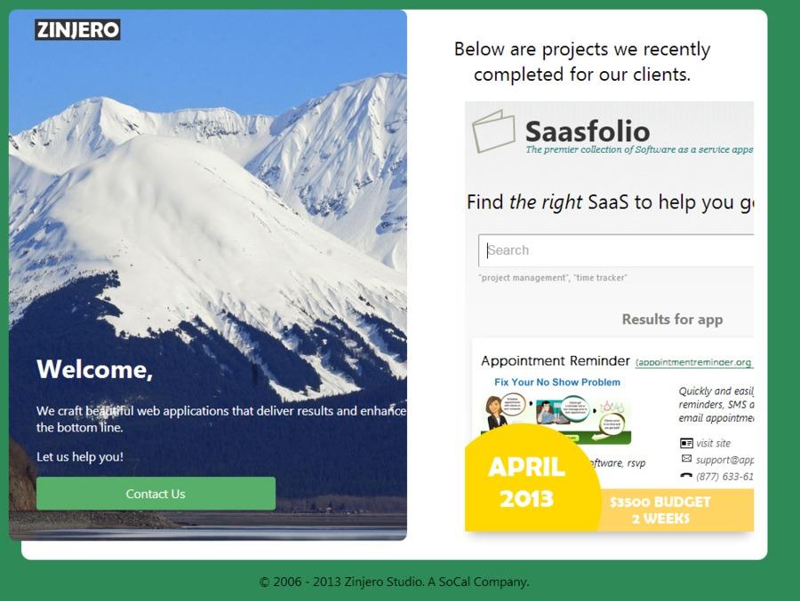 A great web design by Zinjero , Riverside, CA: