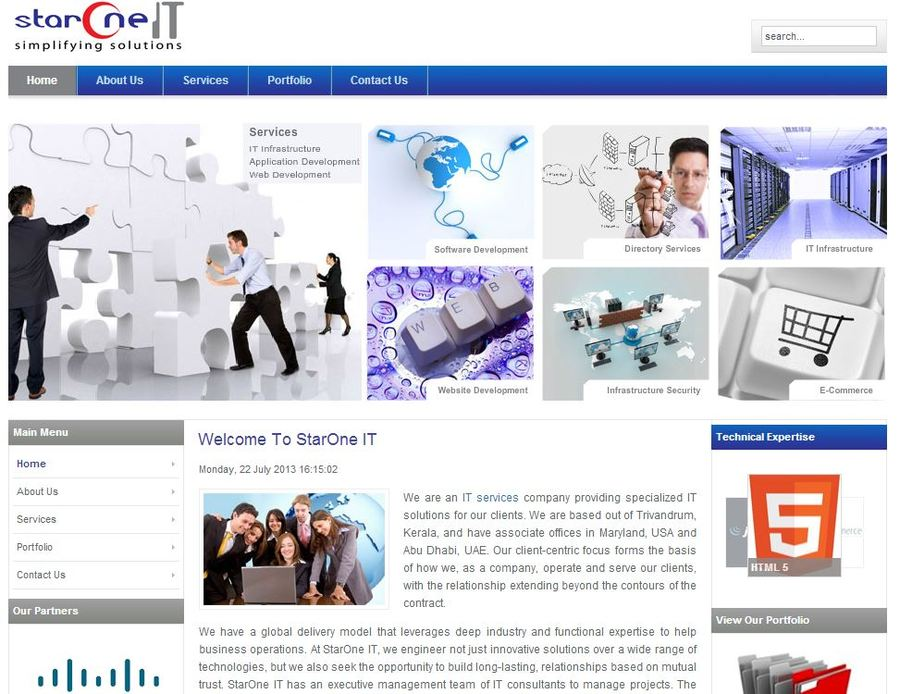 A great web design by StarOne IT, Trivandrum, India: