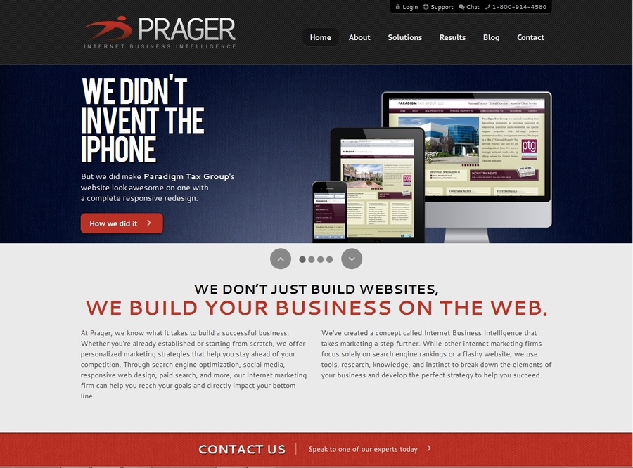 A great web design by Prager Microsystems, Philadelphia, PA: