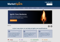 A great web design by MarketSpark: