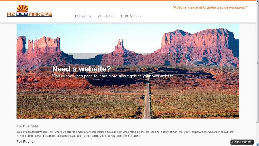 A great web design by Az Web Makers, Phoenix, AZ: