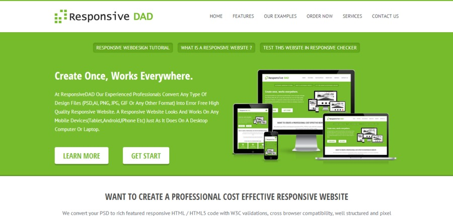 A great web design by responsivedad.com, Cochin, India: