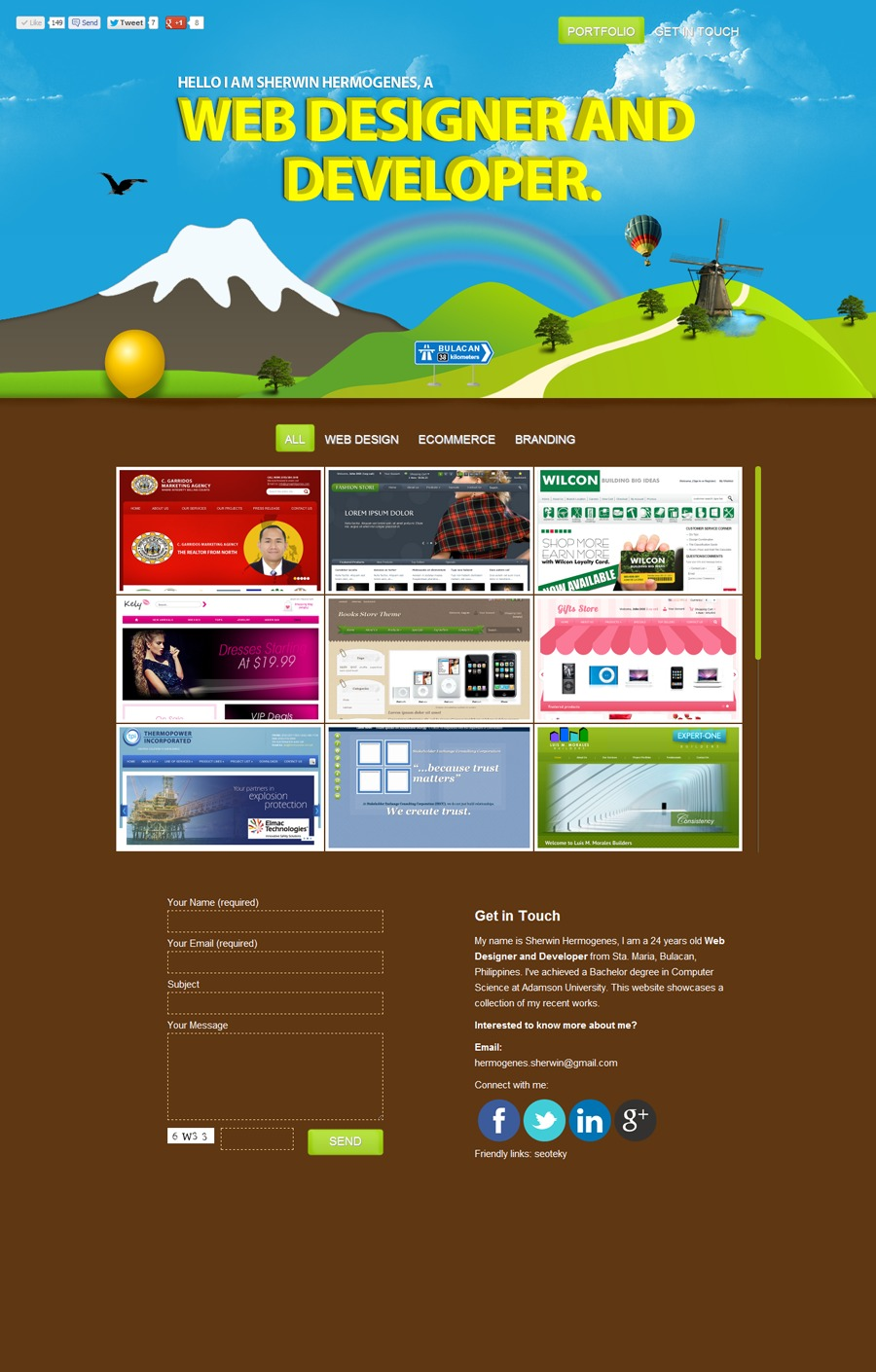 A great web design by Sherwin Hermogenes, Manila, Philippines: