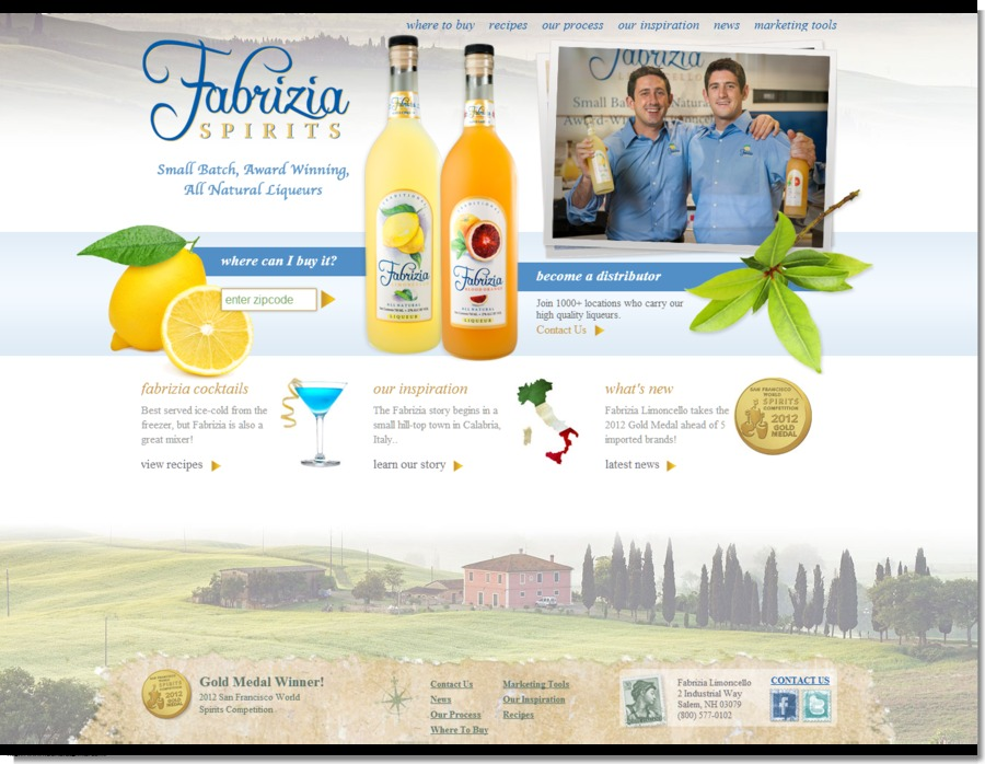 A great web design by divStrong, Fort Lauderdale, FL: Website, Marketing Website , Food & Beverage , Wordpress