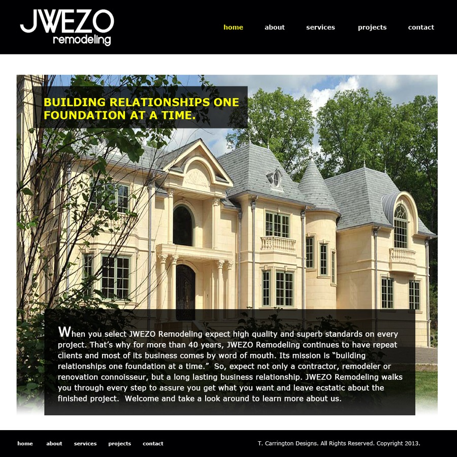 A great web design by T Carrington Designs, New York, NY: