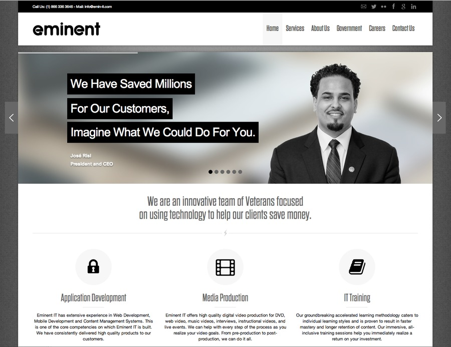A great web design by Eminent IT, LLC, Washington DC, DC: