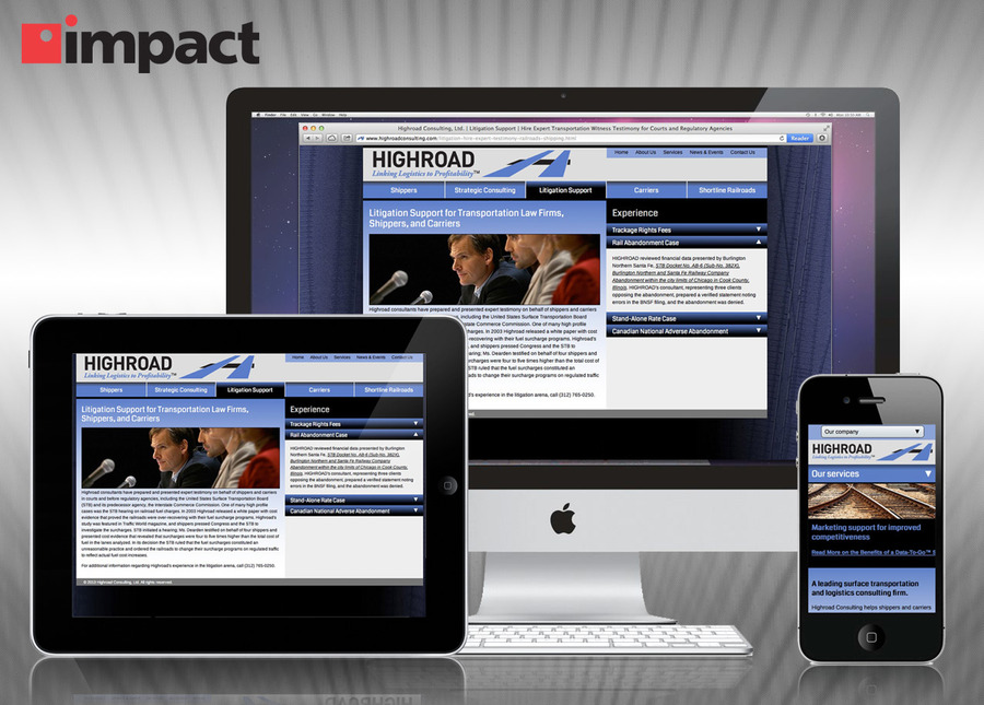 A great web design by Impact Networking, Chicago, IL: