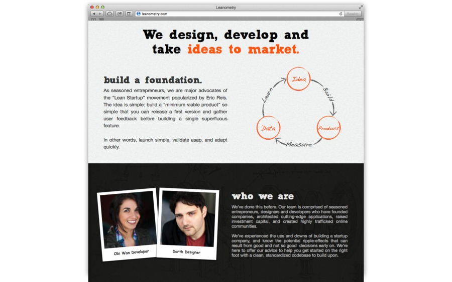 A great web design by Leanometry LLC, Los Angeles, CA: