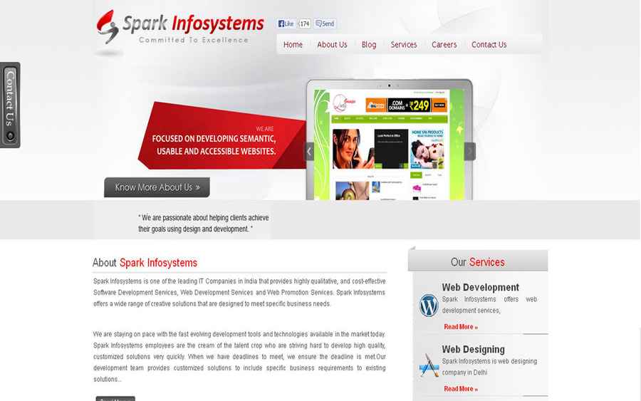 A great web design by Sparkinfosystems, Noida, India:
